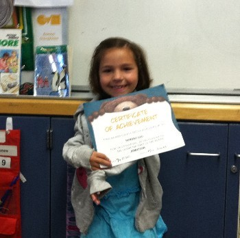 Charater Trait Award Winner for Ambition- Kendra